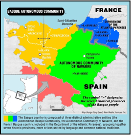 Basque France Map.Onati Community The Basque Country Language Geographical